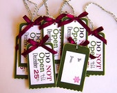 Do Not Open Holiday Gift tags for Christmas