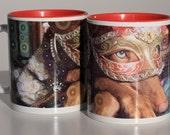 Pharaoh hound dressed up for Carnival mug - Kelb tal-Fenek - Souvenir of Malta