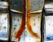 Automotive Photography Bundle Abstract Rust Chrome, Three 8x12 Prints