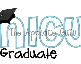NICU Graduate -- Machine Embroidery Design
