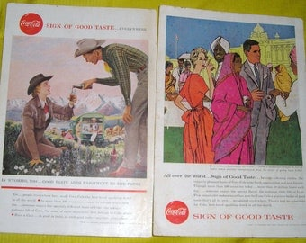 Coca Cola Advertising...1957 1958  The World of Coke Advertising....P1