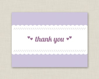 Purple Thank You Cards / Custom Color