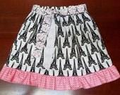 Eiffel Tower Skirt Girls Size 4