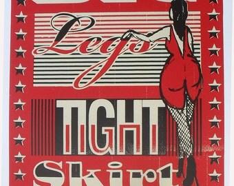 John Lee Hooker Song Lyric Original Screenprint