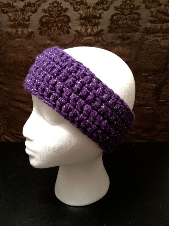Purple Sparkly Women's Ear Warmer/Headband