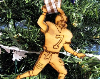 Pick your number Keepsake Football Player Ornament / gift tag