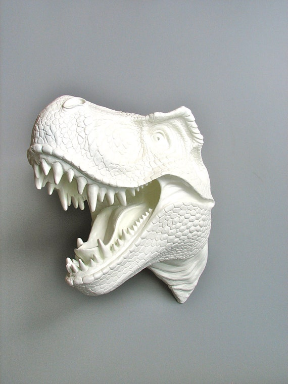 RESERVED 4 DEBORA R Faux Taxidermy T Rex Dinosaur Head Wall Mount: Toby the T Rex