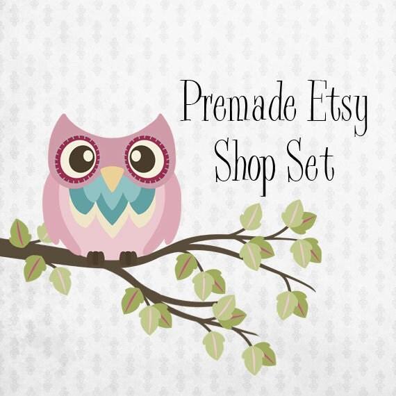 Premade Etsy Shop Image Set - Design 11 Hootie the owl