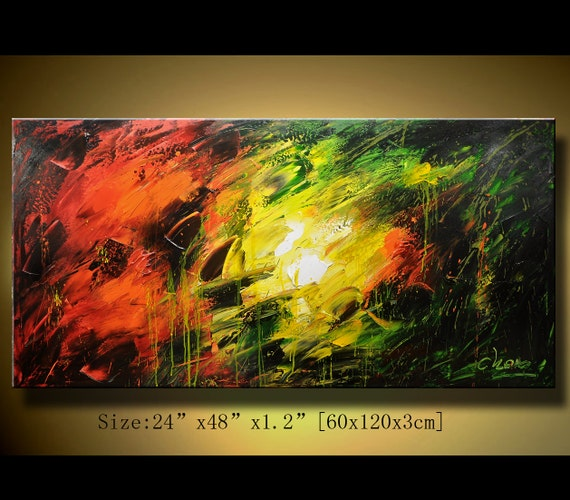Original Abstract Painting, Modern Textured Painting,  Palette Knife, Home Decor, Painting Oil on Canvas  by Chen 0135
