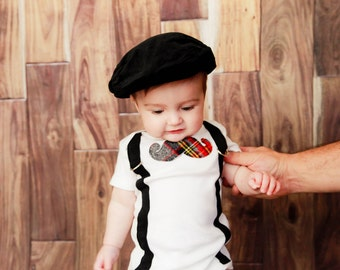 PICK YOUR OWN Little Man Mustache Bodysuit with Suspenders - Little Man Mustache Party