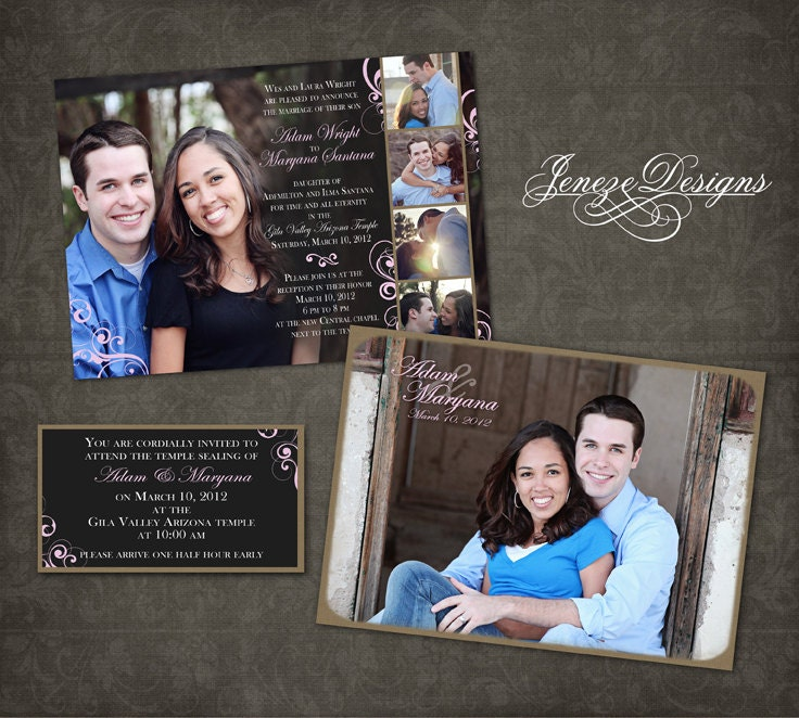 Wedding Invitation Photoshop Template Photographers and