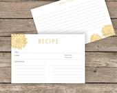 Printable Recipe Cards - 4x6