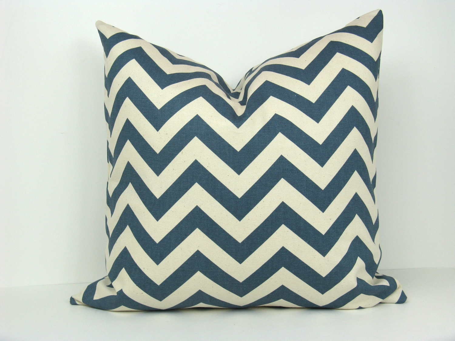 22x22 Throw Pillow Covers : Pillow covers Blue Pillow Chevron Pillows Blue by EastAndNest