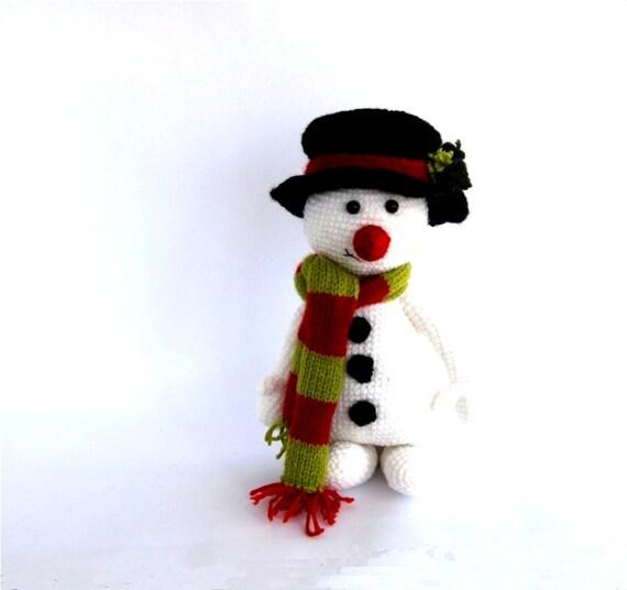 crocheted snowman for Jennifer