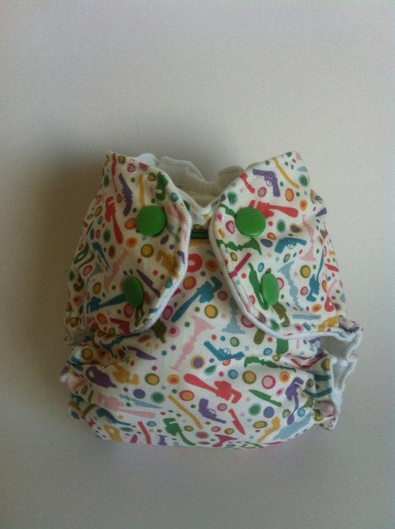 HTF OOAK Murder Mystery Newborn AI2 Cloth Diaper