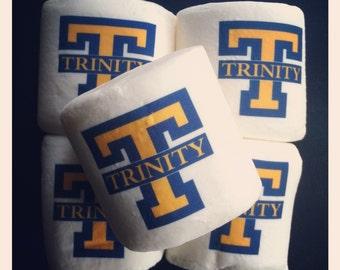 12 jumbo custom logo personalized marshmallows college university sorority school mascot sports team