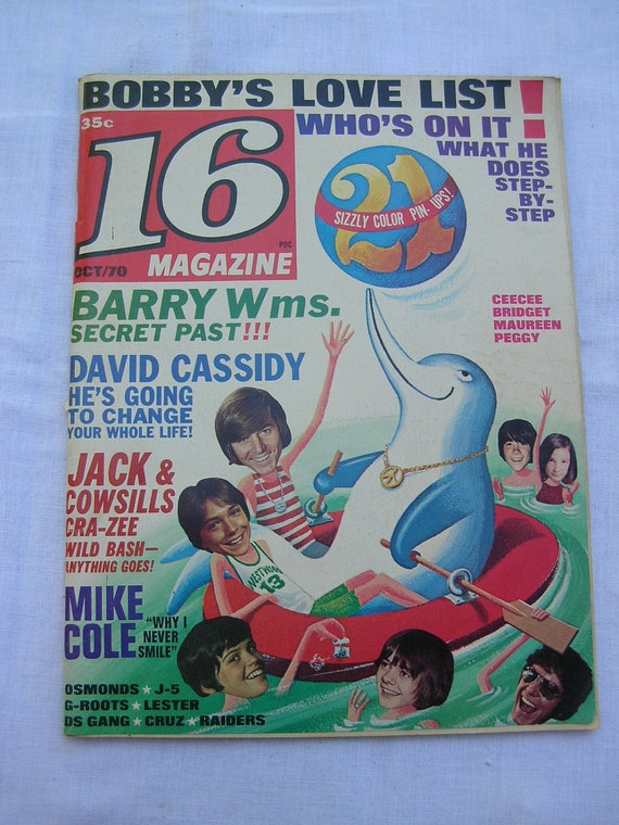 1970 16 Magazine Bobby Sherman The Osmonds David