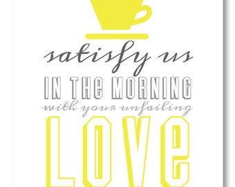 INSTANT DOWNLOAD Kitchen Art Print / Inspirational Faith Scripture for Your Walls / Coffee Art