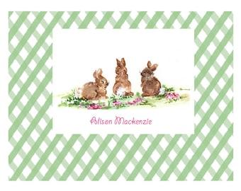 Cute Bunnies for Nursery, Personalized Artwork, kids Artwork