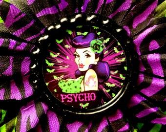 Psycho hair flower