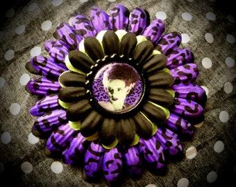 Mrs. Frankenstein hair flower
