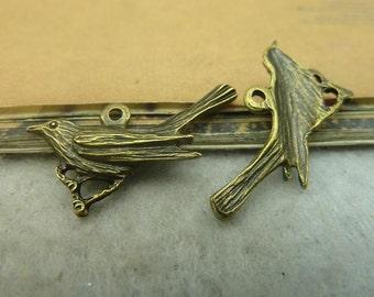 20PCS antique bronze 21x28mm woodpecker charm pendant- WC3382