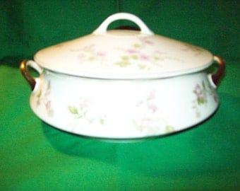 """One (1), Steubenville China, 8 1/2"""" Covered Vegetable Dish"""