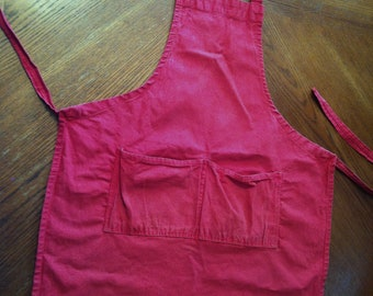 Red Denim Barbeque Apron