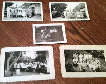 Family Outing Photos - 1940's Black and White Photos