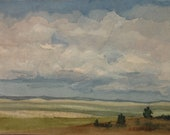 Northern Colorado Open Space (7x5 image only) Original Watercolor Painting