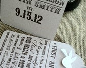CUSTOM Wine Tags - Bridal or Wedding Shower GIFT - Poems - Wine Basket - RUSTIC - Love Birds - Personalize - Recycled - Eco Friendly