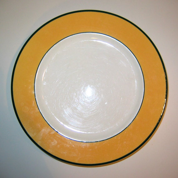 Pagnossin Treviso Spa Orange Ironstone Dinner Plates Italy