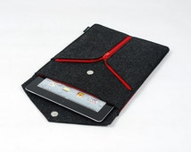 Felt iPad 1 2 3 4 Sleeve New iPad Case Bag Holder Wallet Handmade Customized Snap Button Zipper DecorationE1129