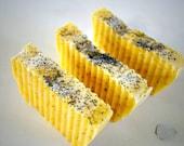 Meyer Lemon Poppyseed Soap Light Exfoliation Uplifting Scent