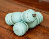 CHOOSE YOUR COLOR - Painted,Distressed, Wooden Pepper Mill and Salt Shaker - Annie Sloan Chalk Paint Provence