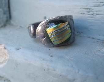 Flatware Fused Glass Ring