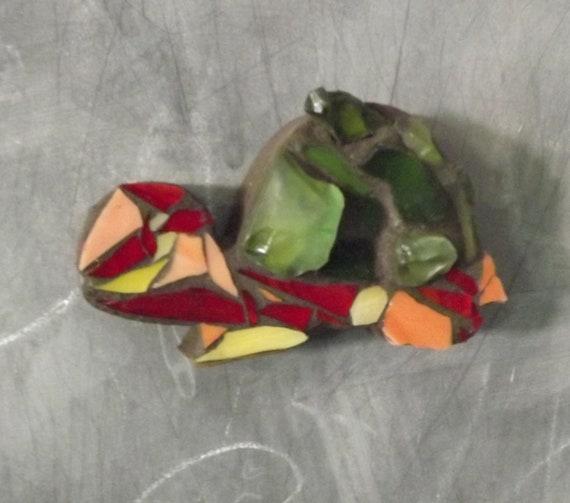 Mosaic Turtle magnet