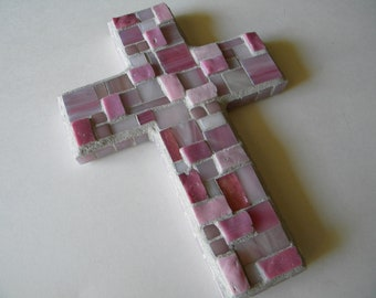 Pink Mosaic Cross