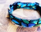 NEW Peacock Pattern Custom Made Adjustable Dog Collar