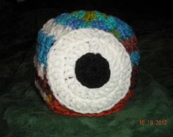 Crochet Infant Googley-Bear Monster Hat  Eyeball Hat  0-3 months