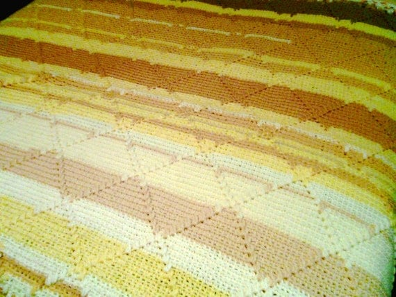Shades of Yellow Afghan