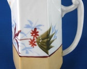 Pitcher English Arts And Crafts Hand Painted Jug Aesthetic Movement 1890s