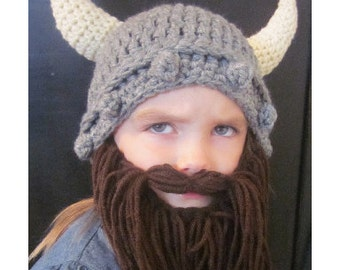 25% OFF!  KIDS Viking Hat & Beard