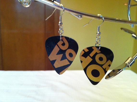 Doctor Who Guitar pick earrings