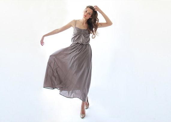 Maxi Ballerina Taupe  Dress