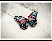 Brilliant Rainbow Butterfly Necklace