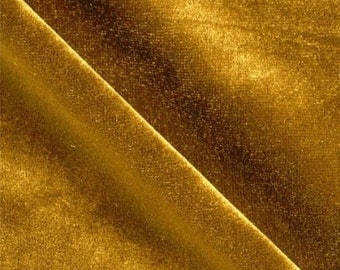 Stretch Velvet DarkGold 60 Inch Fabric by the Yard - 1 Yard