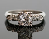 Vintage Diamond Engagement Ring - Platinum and Diamond