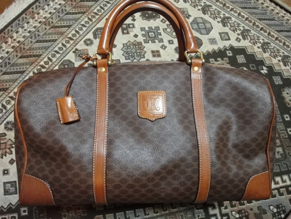Vintage CELINE large travel duffle bag with leather by eNdApPi
