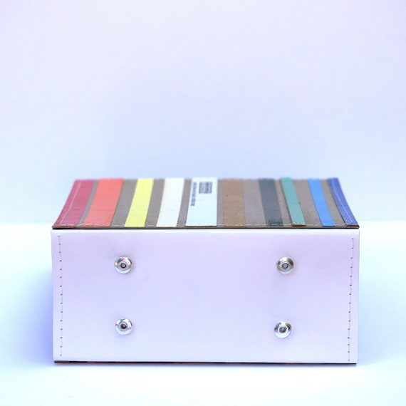 Stripey 26 CD/ DVD Holder Book Made from Upcycled Materials